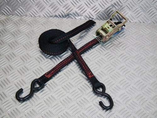 フリーク ラチェット式ブラックベルト荷締め機 S字フック0.8ton 幅25mm×長さ0.5+3.5m