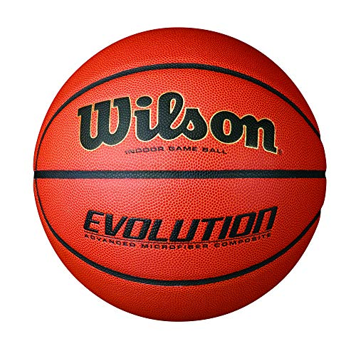 Wilson Evolution Indoor Game Basketball, Official (29.5') - Black