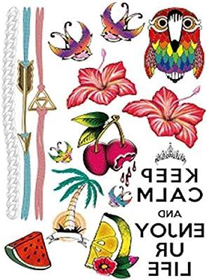 Pegatinas de tatuaje de brazo de flor tatuaje impermeable tatuaje ...