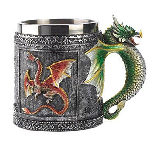 - Royal Dragon Mug Serpent Medieval Collectible Resin Beer Mug Novelty Coffee Mug