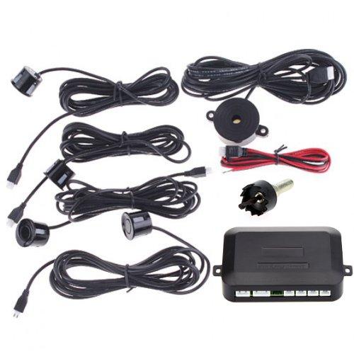 Docooler® Automotive Car Parking Reverse Backup Radar Sound Alert + 4 Sensors - Black