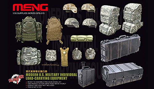 Meng 1:35 Modern US Military Individual Load-Carrying Equipment Plastic (Military Dioramas)