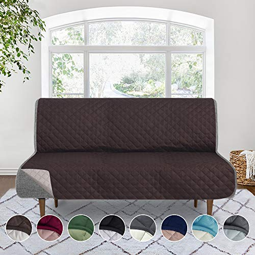 Rose Home Fashion RHF Reversible Futon Cover, Covers for Futon, Futon Covers, Futon Cover, Futon Covers for Living Room,Futon Covers for Dogs, Futon Slipcover (Futon: Chocolate/Beige)