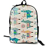 Mwsgs90 Laptop Backpack Colorful Llama Fun Computer Bag College School Backpack Unisex