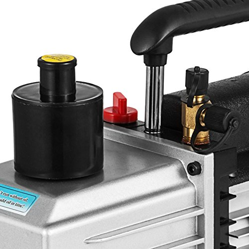 VEVOR Vacuum Pump 8CFM 1HP Two Stage HVAC Rotary Vane Vacuum Pump Wine Degassing Milking Medical Food Processing Air Conditioning Auto AC Refrigerant Vacuum Pump (2-Stage, 8CFM) by VEVOR (Image #6)