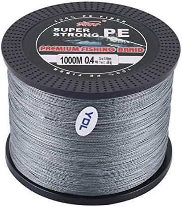 Tivollyff YUDELI 0.4ライン番号スーパーストロング4ストランド1000MプレミアムPE編組釣りラインレイクマルチフィラメントワイヤー織り糸