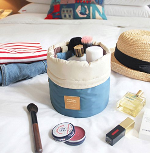 Spring 0.25 Lb (OZZOY Fashion Women Makeup Bag Hanging Toiletries Travel Kit Jewelry Organizer Cosmetic Bag Wth a Mini Bag (Blue))