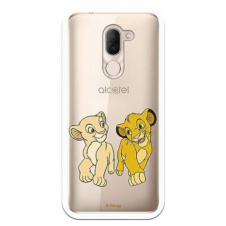 Funda para Alcatel 3X Oficial de Simba y Nala Mirada ...