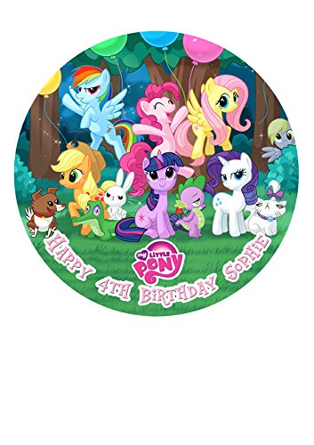 Amazon De My Little Pony Party Personalisierte Kuchen Topper