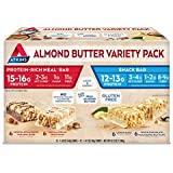 Atkins Protein-Rich Meal & Snack Bars Variety Pack, Real Almond Butter, Gluten Free, 24 Count