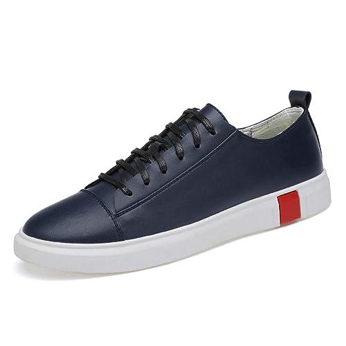 Hombres Zapatillas De Cuero CordóN para Zapatillas Calzado Deportivo Resistente Al Agua para Los Hombres: Amazon.es: Zapatos y complementos