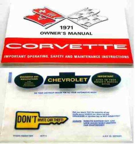 1971 Corvette Stingray Owner's Manual Reprint