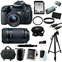 Canon EOS 70D SLR CMOS 20.2MP Digital Camera EFS 18-55mm Lens with Canon EF-S 55-250mm f/4.0-5.6 IS II Telephoto Zoom Lens and 32GB Deluxe Accessory Bundle Review Review Image