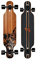 JUCKER HAWAII Longboard New HOKU Bamboo Drop Through The flex and its shape makes the Hoku (hawai'ian Star) a perfect allrounder for longboarders of all ages and weight class. The kicktail on both ends allows the rider to use the board for t...