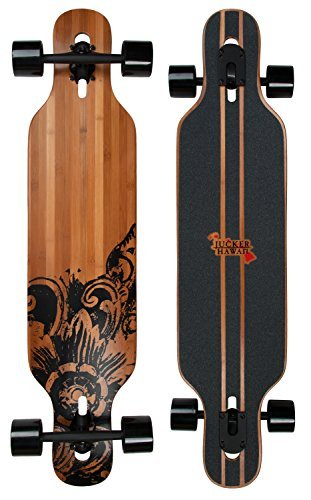 JUCKER HAWAII Longboard Skateboard New HOKU Bamboo Drop Through ()