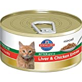 Hill's Science Diet Kitten Healthy Development Liver and Chicken Entree Minced Cat Food, 5.5-Ounce Can, 24-Pack, My Pet Supplies