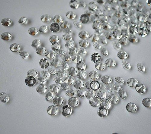 SANC 4,000 Clear Acrylic Diamond Table Confetti 4.5mm/0.36 Carat for Wedding Bridal Shower Party Decorations