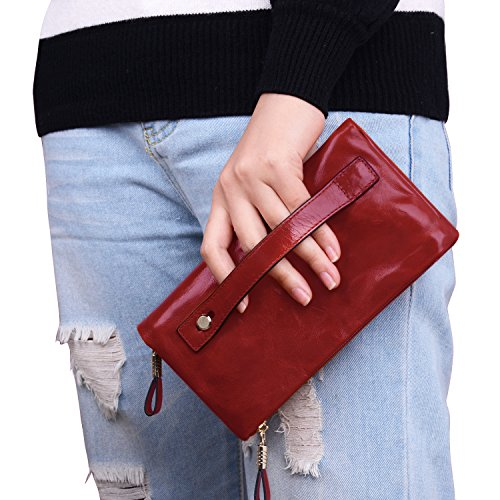 Jack And Chris Women Leather Clutch Handbag