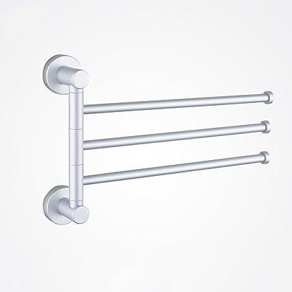 LISABOBO Aluminio Space-Type 3 Bar y 4 Bar Swing Out Toallero Toallero de pared