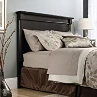 Sauder 420774 Bleeker Street Headboard, Full/Queen, Obsidian Oak