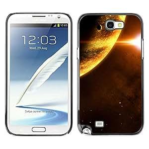 Caucho caso de Shell duro de la cubierta de accesorios de protección BY RAYDREAMMM - Samsung Galaxy Note 2 N7100 - Planets Sun Red Dwarf Space Universe Stars