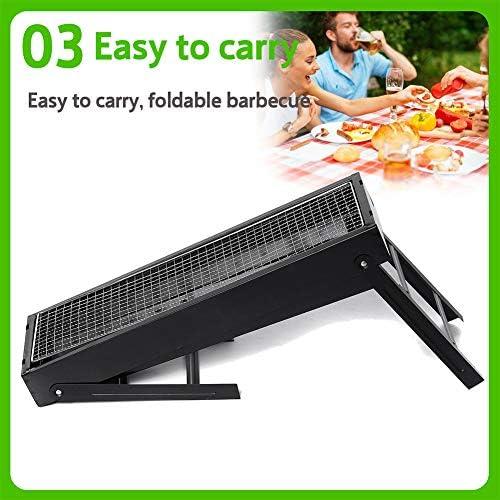 FDSAG Barbecue Carbone Griglia, Utensile BBQ Grill Pieghevole per Picnic con Gli Amici, Riunione di Famiglia per 5 + Persone