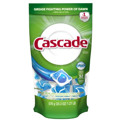 Cascade 2-in-1 Action Pacs Dishwasher Detergent, Fresh Scent
