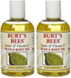Burt's Bees Lemon and Vitamin E Body & Bath Oil - 4 oz - 2 pk