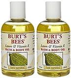 Burts Bees Vitamin E Oil Burt's Bees Lemon and Vitamin E Body & Bath Oil - 4 oz - 2 pk