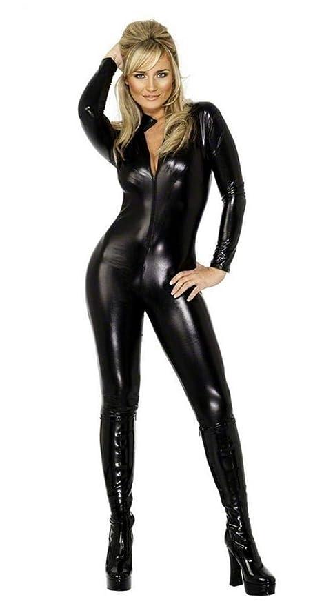 XGNL Donna Catwoman Costumi di Carnevale Catsuit con Coda A Maniche Lunghe  Tuta con Zip Costume df58601fa7fe