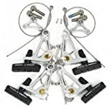 Tektro CR720 Cyclocross Cantilever Brake Set Front and Rear, Silver, ST1413-SILVER