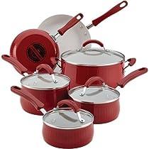 Farberware New Traditions Aluminum Nonstick 12-Piece Cookware Set