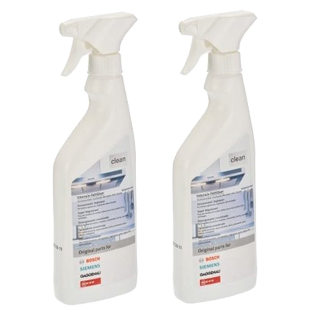 Bosch Original Concentrated Degreaser Kitchen Cleaner Spray (500ml, Pack of 2)