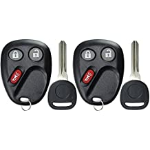 KeylessOption Keyless Entry Remote Car Key Fob and Key Replacement For LHJ011 (Pack of 2)