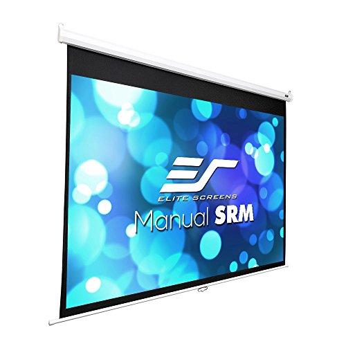 - Elite Screens Manual SRM Series, 120-Inch 4:3, Slow Retract Pull Down Projection Projector Screen, Model: M120XWV2-SRM