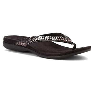 5ef2c509701 Vionic Womens Selena Sandal Black Snake Size 7
