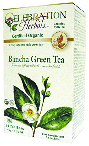 Celebration Herbals Organic Bancha Green Tea -- 24 Tea Bags (Bancha Tea Green)