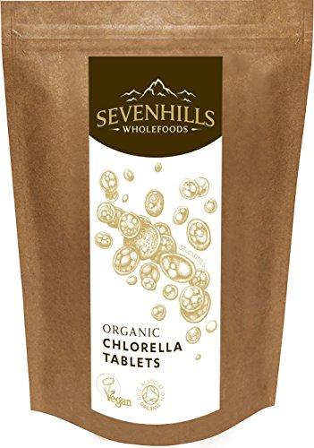 Sevenhills Wholefoods Chlorella-Tabletten Bio 1000 x 500mg, 500g