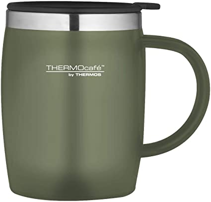 f4d7ad07205 Thermos ThermoCafé Soft touch Desk Mug, Moss, 450 ml: Amazon.co.uk: Kitchen  & Home
