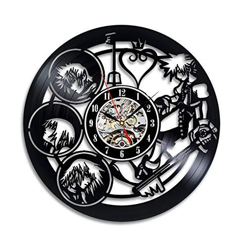 Kingdom Hearts Anime Vinyl Record Design Wall Clock - Decora