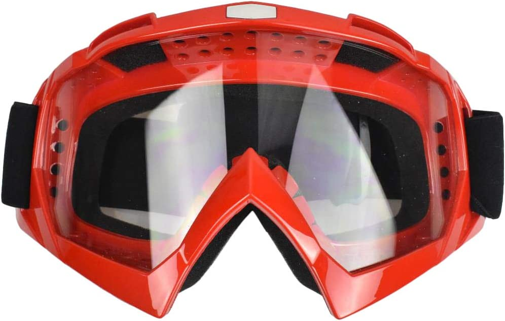JADEDRAGON Motorcycle Goggles TV Dirt Bike Off Road Racing Goggles Anti UV Safety Goggles Dustproof Motorbike Goggles Adjustable Elastic Strap,One Size fits Most