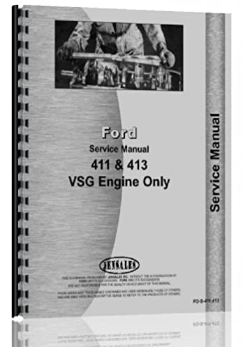 ford vsg 411 engine service manual ford 6301147668431 amazon com rh amazon com Truck Manual Repair Manuals Yale Forklift