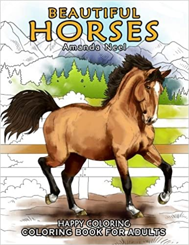 Beautiful Horses - Coloring Book for Adults: Amazon.de ...