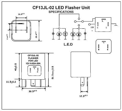 Universal Blinkgeber LED Blinker Relais Relay Flasher Geber Relai