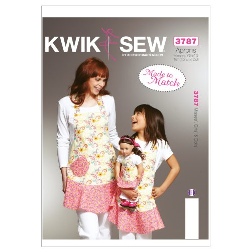 Kwik Sew K3787 Misses Sewing Pattern, Girls and Dolls Aprons (Apron Patterns Children)