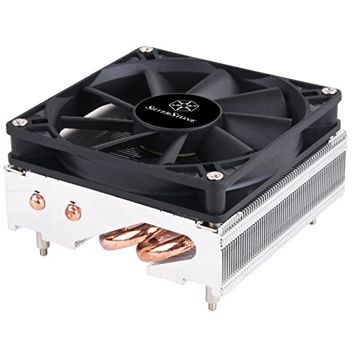 SilverStone Technology SST-AR11 SFF 95 Watt Intel 115X CPU Cooler with 4 heat pipe design at only 47mm tall AR11
