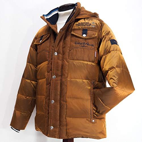 40492 秋冬 ダウンコート ハーフコート フード取り外し可 ブロンズ(茶) サイズ 46(M) CAPRI カプリ 紳士服 メンズ 男性用