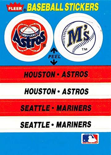 1987 Fleer Team Stickers Baseball Card #NNO Houston Astros/Seattle Mariners Houston Astros/Seattle Mariners New York Yan Official MLB Trading Card