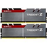 G.SKILL 16GB (2 x 8GB) TridentZ Series DDR4 PC4-25600 3200MHz for Intel Z170 Platform Desktop Memory F4-3200C16D-16GTZ