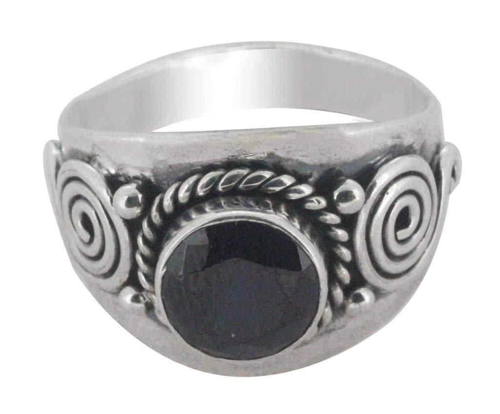 M/s Gajraj 925 Sterling Silver Onyx Stone Ring, US-10
